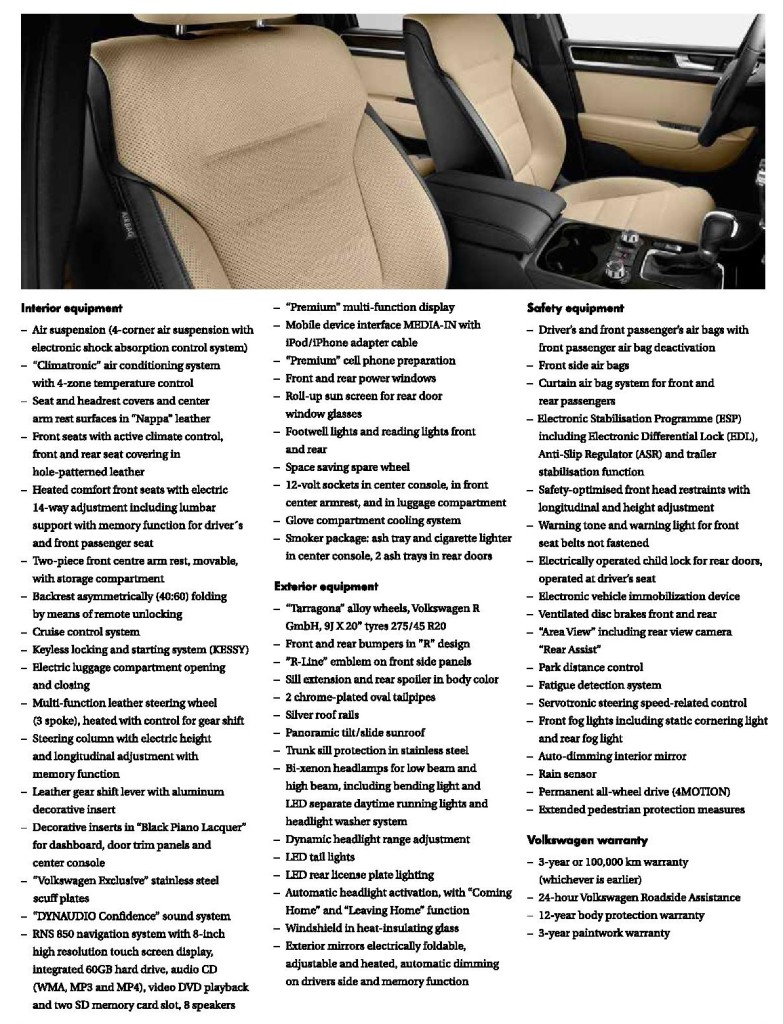 Touareg R-Line specifications_2