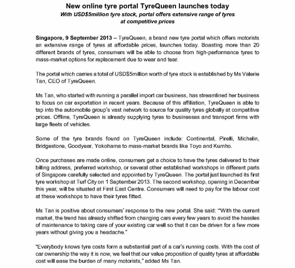 Media Release - New online tyre portal TyreQueen launches today_1 (600x545)