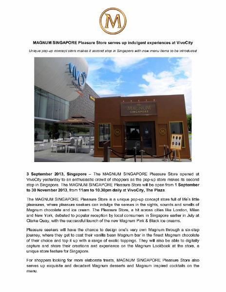 Press release_MAGNUM SINGAPORE Pleasure Store serves up indulgent experiences at VivoCity_3 Sep 2013_1 (464x600)