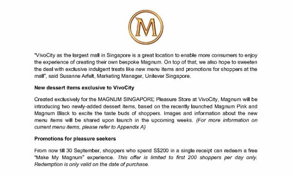 Press release_MAGNUM SINGAPORE Pleasure Store serves up indulgent experiences at VivoCity_3 Sep 2013_2 (600x364)
