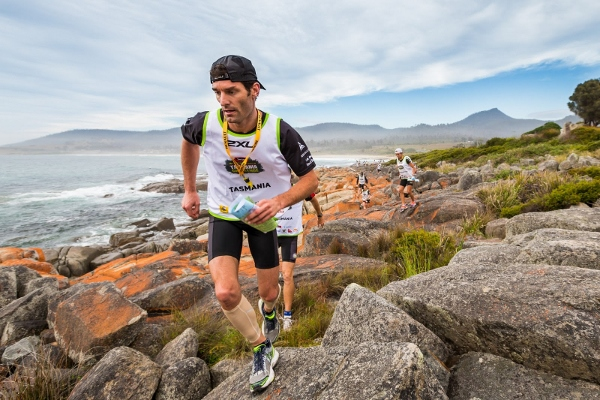 Mark Webber completing his own Tasmania Challenge