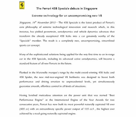 Media Release - Ferrari 458 Speciale debuts in Singapore_1 (566x800)