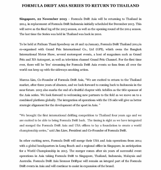 Press Release, Formula Drift Asia Returns To Thailand_1 (566x800)