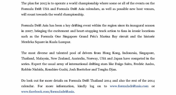 Press Release, Formula Drift Asia Returns To Thailand_2 (566x800)