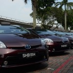SMRT's first fleet of Toyota Prius hybrid taxis