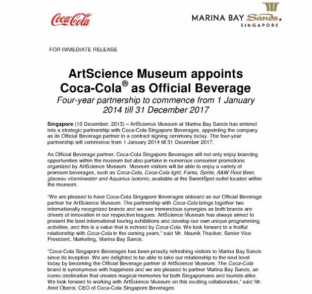 ArtScience Museum appoints Coca Cola Singapore as the official beverage_10 Dec 2013_1 (618x800)