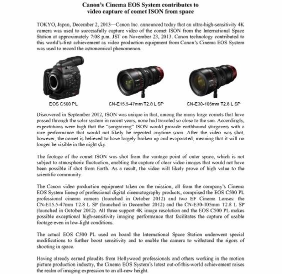 Canon Cinema EOS System captures comet ISON_1 (566x800)