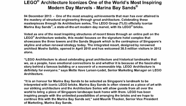 LEGO®  Architecture Iconizes One of the World's Most Inspiring Modern Day Marvels - Marina Bay Sands_4 Dec 2013_1 (618x800)