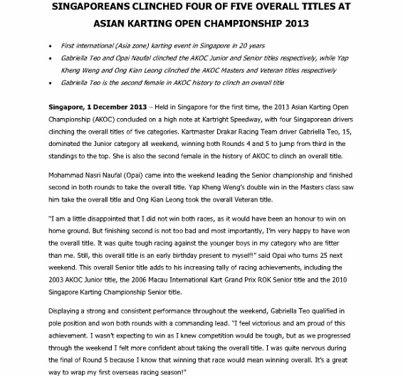 Press Release - Singaporeans take four of five overall titles at AKOC_1 (566x800)
