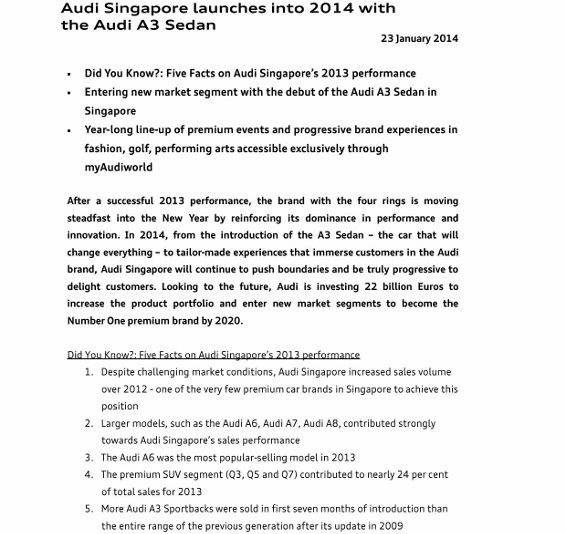 Press Release_Audi Singapore launches into 2014 with the Audi A3 Sedan_1 (566x800)