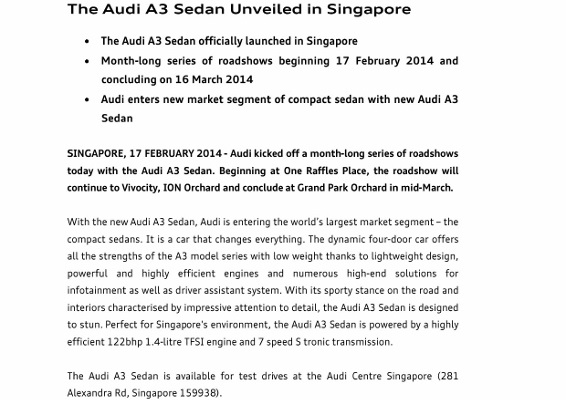 Photo Release_The Audi A3 Sedan Unveiled in Singapore_1 (566x800)