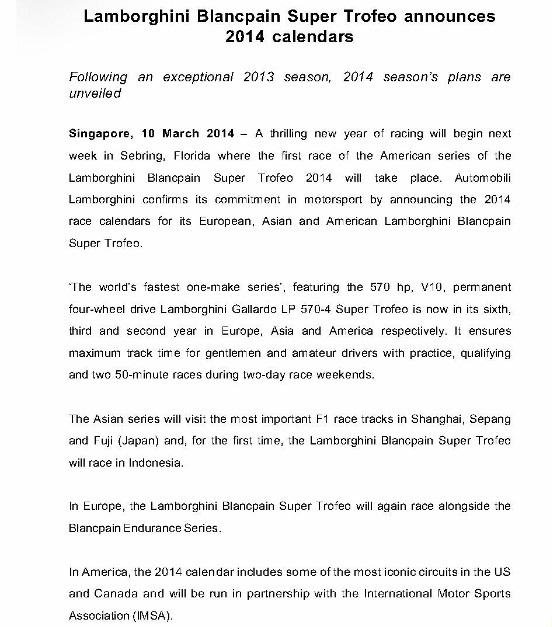 [MEDIA RELEASE] Lamborghini Blancpain Super Trofeo announces 2014 calendars_1 (724x1024)
