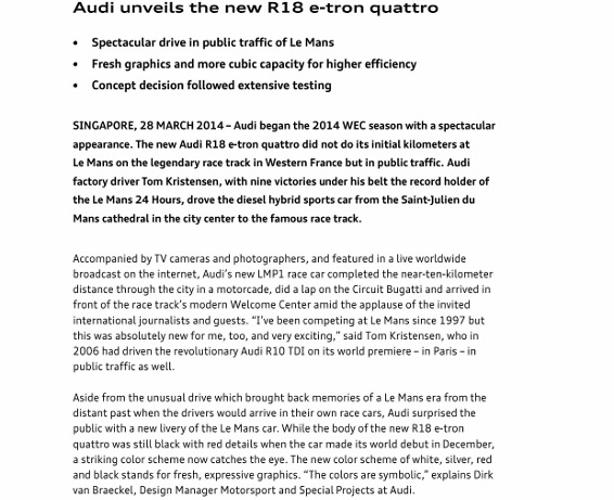 Press Release_Audi unveils the new R18 e-tron quattro_1 (566x800)