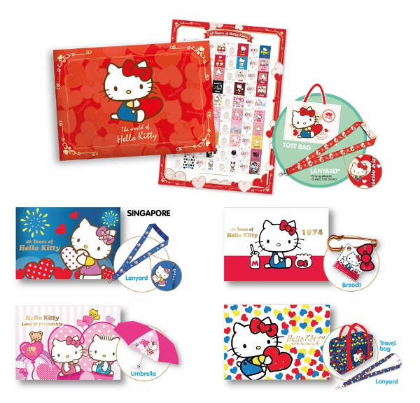 SingPost X Hello Kitty 40th Anniversary Collection full set (600x576)