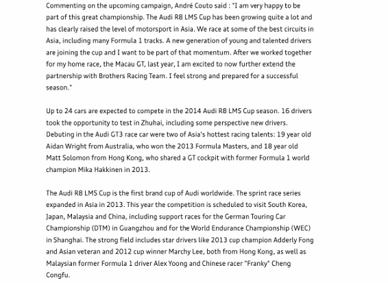 Press Release_Audi introduces engine boost to Asian racing series_2 (566x800)