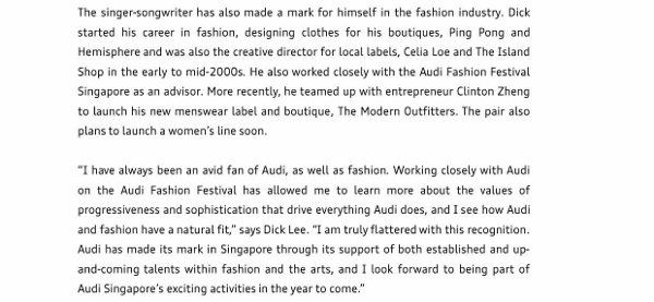 Press Release_Dick Lee named Brand Ambassador for Audi Singapore_2 (600x277)