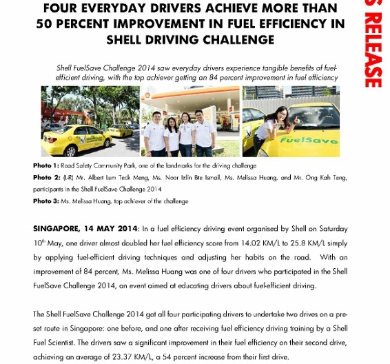 News Release_Four everyday drivers achieve more than 50 percent improvement in fuel efficiency in Shell Driving Challenge_1 (566x800)