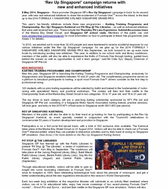 PRESS RELEASE_Race Promoter Singapore GP Launches Rev Up Singapore Campaign_080514_1 (566x800)
