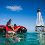 Effectively amphibious: Drive between land and sea easily