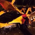McLaren 650S crash in Singapore