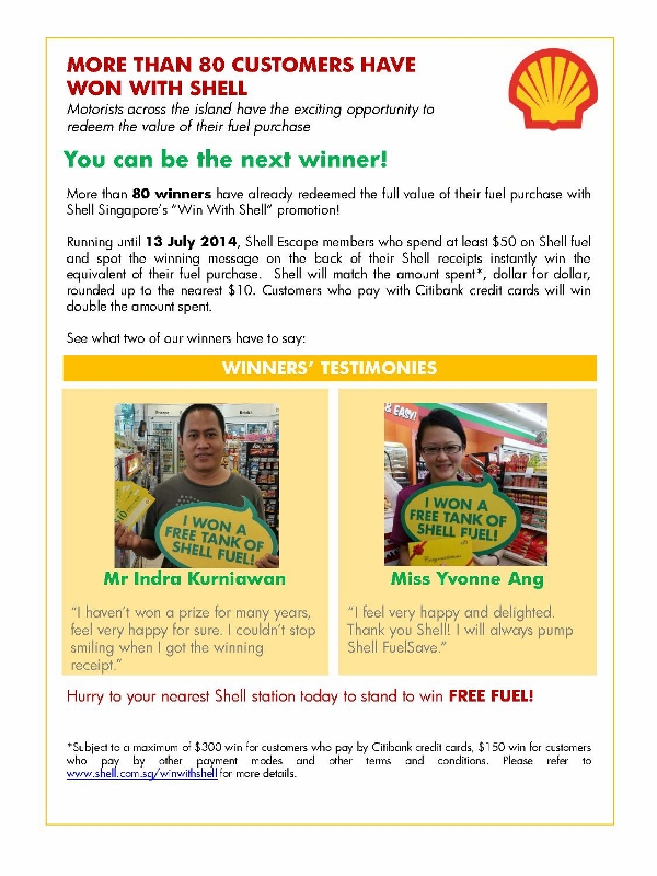MEDIA ALERT - More than 80 customers have won with Shell_1 (600x800)