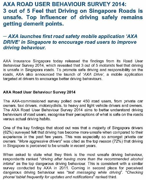 MEDIA RELEASE - AXA Road User Behaviour Survey 2014 and Launch of AXA Drive_1 (724x1024)
