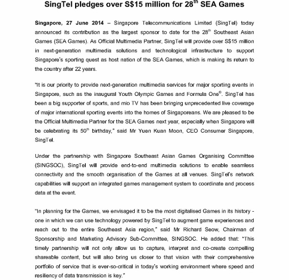 Media Release - SingTel Sponsors 2015 SEA Games - 27 June_1 (566x800)