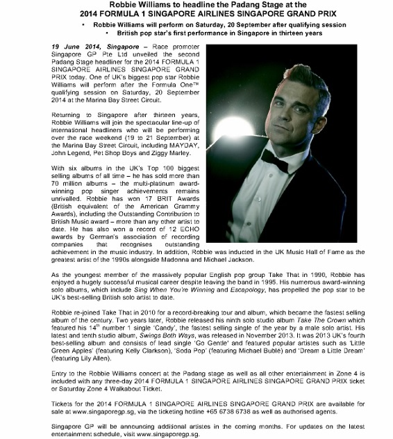 PRESS RELEASE_190614_Robbie Williams to headline the Padang Stage on Saturday_apvdrelease_1 (566x800)