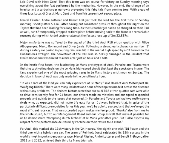 Press Release_Triumph at Le Mans - Audi defeats Porsche and Toyota_2 (566x800)