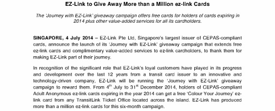 Press Release - EZ-Link to Give Away More than a Million ez-link Cards_1 (566x800) - Copy