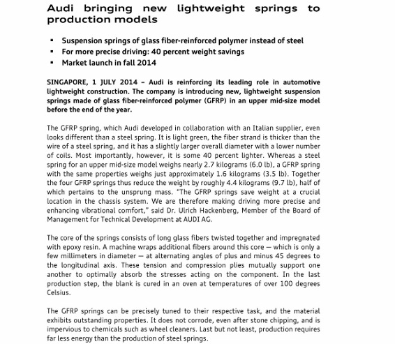 Press Release_Audi bringing new lightweight springs to production models_1 (566x800)