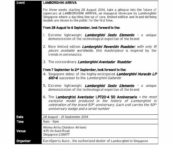 [MEDIA RELEASE] LAMBORGHINI ARRIVA – Inaugural Showcase of its Iconic Models_3 (566x800)