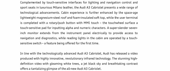 Press Release_Technology in a new light - The new Audi A3 Cabriolet_2 (566x800)