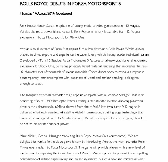 Press release - Rolls-Royce debuts in Forza Motorsport 5_1 (566x800)