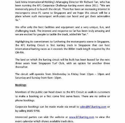 [Media Release] $2 MILLON WORLD CLASS KARTING TRACK OPENS IN SINGAPORE _2 (424x600)